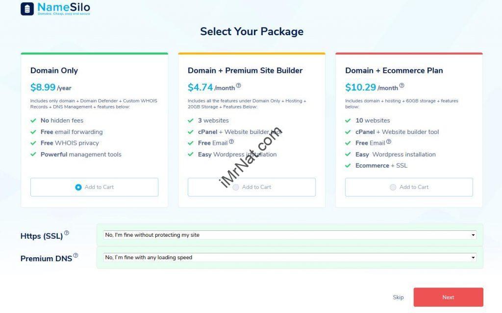 namesilo domain buying