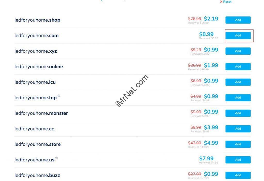 namesilo domain search