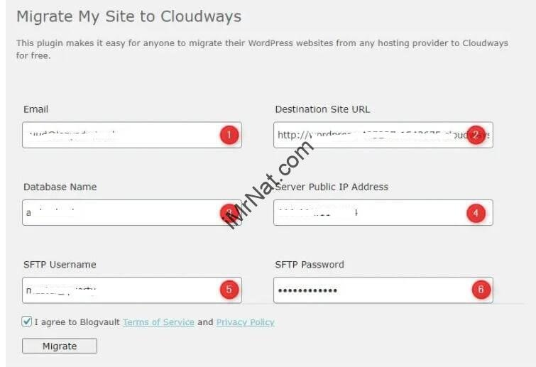 Migrate to cloudways